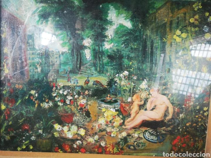 Arte: Reinterpretación obra de Renoir, pintada al oleo, medidas marco incluido 64x54cm - Foto 2 - 164587020