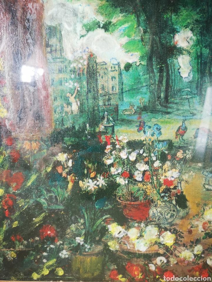 Arte: Reinterpretación obra de Renoir, pintada al oleo, medidas marco incluido 64x54cm - Foto 3 - 164587020
