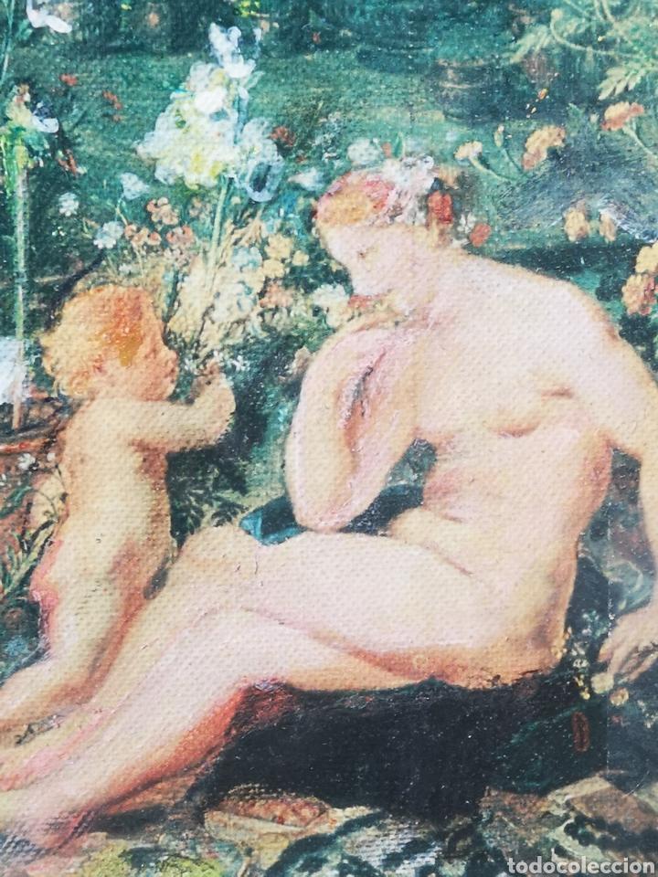 Arte: Reinterpretación obra de Renoir, pintada al oleo, medidas marco incluido 64x54cm - Foto 4 - 164587020
