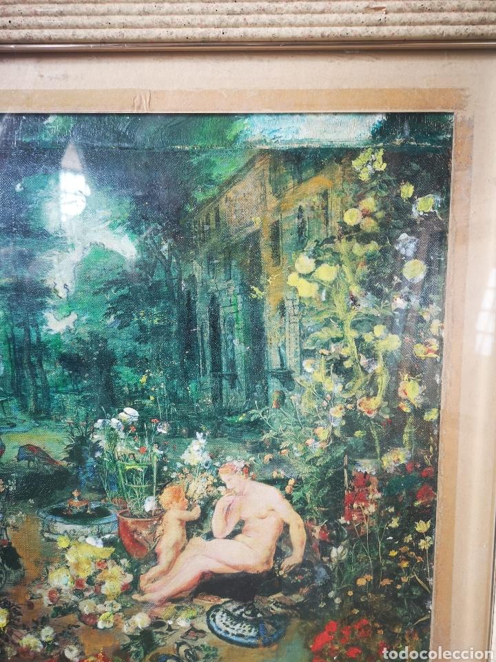 Arte: Reinterpretación obra de Renoir, pintada al oleo, medidas marco incluido 64x54cm - Foto 5 - 164587020
