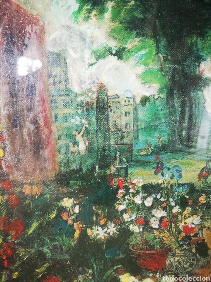 Arte: Reinterpretación obra de Renoir, pintada al oleo, medidas marco incluido 64x54cm - Foto 6 - 164587020