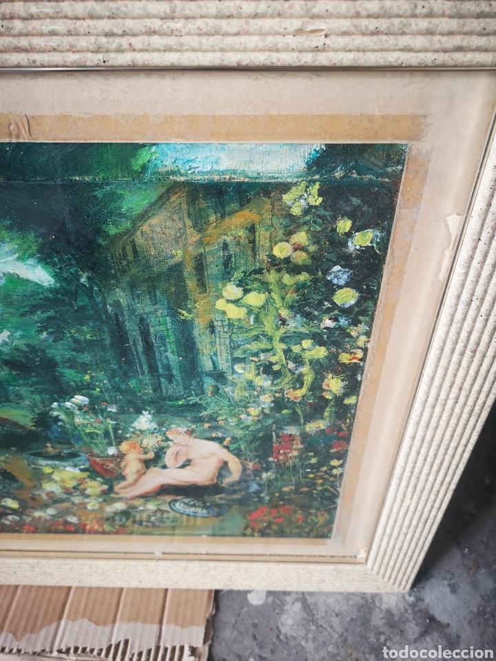 Arte: Reinterpretación obra de Renoir, pintada al oleo, medidas marco incluido 64x54cm - Foto 7 - 164587020