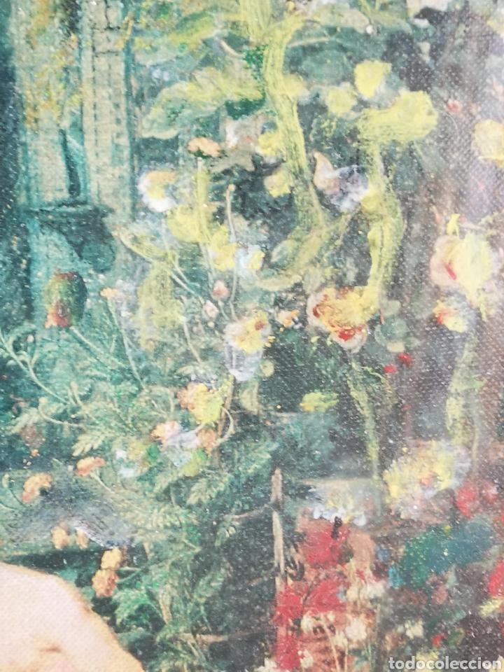 Arte: Reinterpretación obra de Renoir, pintada al oleo, medidas marco incluido 64x54cm - Foto 8 - 164587020