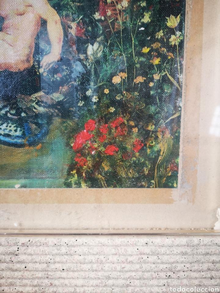 Arte: Reinterpretación obra de Renoir, pintada al oleo, medidas marco incluido 64x54cm - Foto 9 - 164587020