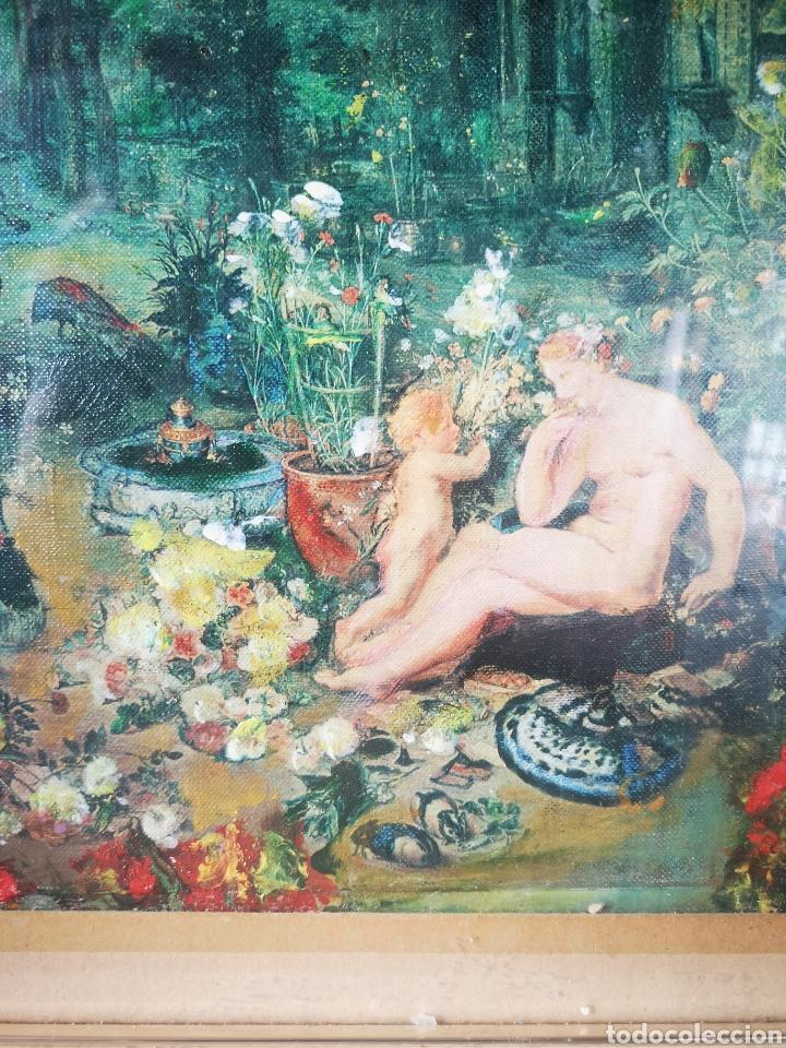 Arte: Reinterpretación obra de Renoir, pintada al oleo, medidas marco incluido 64x54cm - Foto 10 - 164587020
