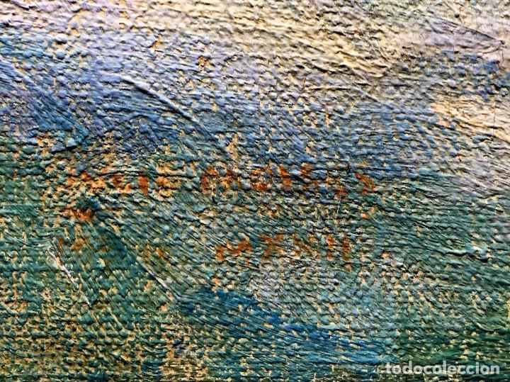 Arte: MOISÉS Julio (1888-1968) Pintor Español. Oleo sobre tela. - Foto 2 - 164610602