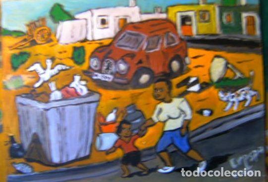 EJIDO.-MATAGORDA, ÓLEO SOBRE TABLA 30X40 CM. DE CRESPO (Arte - Pintura Directa del Autor)