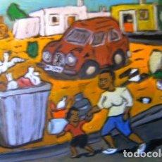 Arte: EJIDO.-MATAGORDA, ÓLEO SOBRE TABLA 30X40 CM. DE CRESPO. Lote 164645714