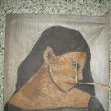 Arte: DETERIORADO OLEO SOBRE LIENZO, PINTORA CLARA GUILLOT. Lote 164722658