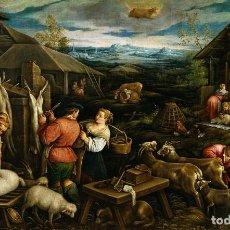 Arte: PINTURA DEL SIGLO XVI REALIZADA AL ÓLEO SOBRE LIENZO, 100% A MANO. TAURO. 70X90CM.. Lote 164803070