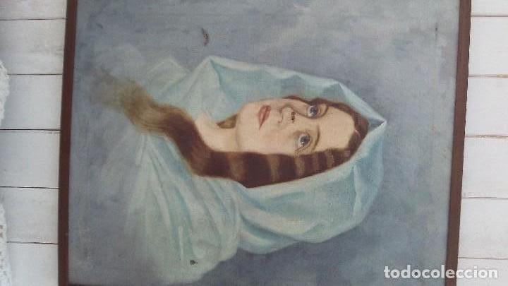Arte: pintura al oleo mujer de el pintor de xativa juaquin tudela y perales - Foto 2 - 164848990