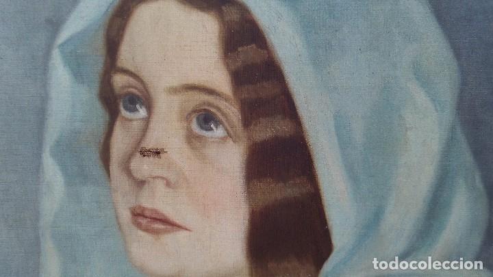 Arte: pintura al oleo mujer de el pintor de xativa juaquin tudela y perales - Foto 3 - 164848990