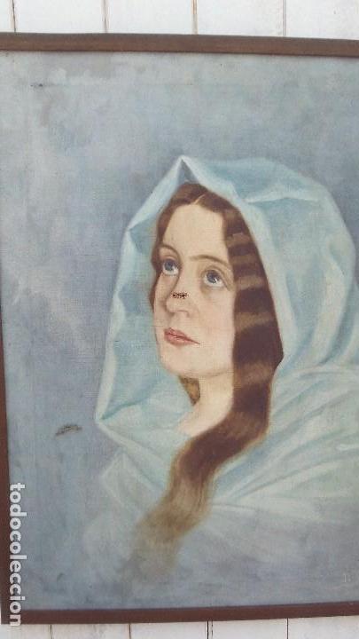 PINTURA AL OLEO MUJER DE EL PINTOR DE XATIVA JUAQUIN TUDELA Y PERALES (Arte - Pintura - Pintura al Óleo Moderna siglo XIX)