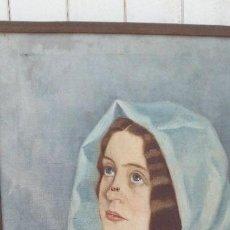 Arte: PINTURA AL OLEO MUJER DE EL PINTOR DE XATIVA JUAQUIN TUDELA Y PERALES. Lote 164848990