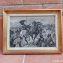 Arte: PINTURA AL ÓLEO DE FERNANDO FERNÁNDEZ MOTA CEUTA PARA EL LIBRO HISTORIA DE ESPAÑA. CODOLÁ.. Lote 164858902