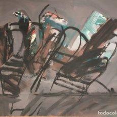 Arte: ABSTRACTO SIN FIRMAR (ALBERT RÀFOLS CASAMADA?) SOBRE EL REVERSO DE GRABADO DE OTRO AUTOR. Lote 164875102