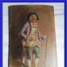Arte: OLEO SOBRE PAPEL EN TABLA DE UN NOBLE FIRMADO S. XIX. Lote 164882438
