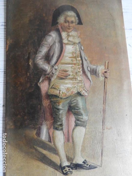 Arte: OLEO SOBRE PAPEL EN TABLA DE UN NOBLE FIRMADO S. XIX - Foto 3 - 164882438