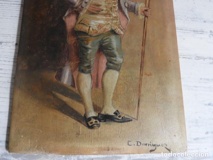 Arte: OLEO SOBRE PAPEL EN TABLA DE UN NOBLE FIRMADO S. XIX - Foto 5 - 164882438