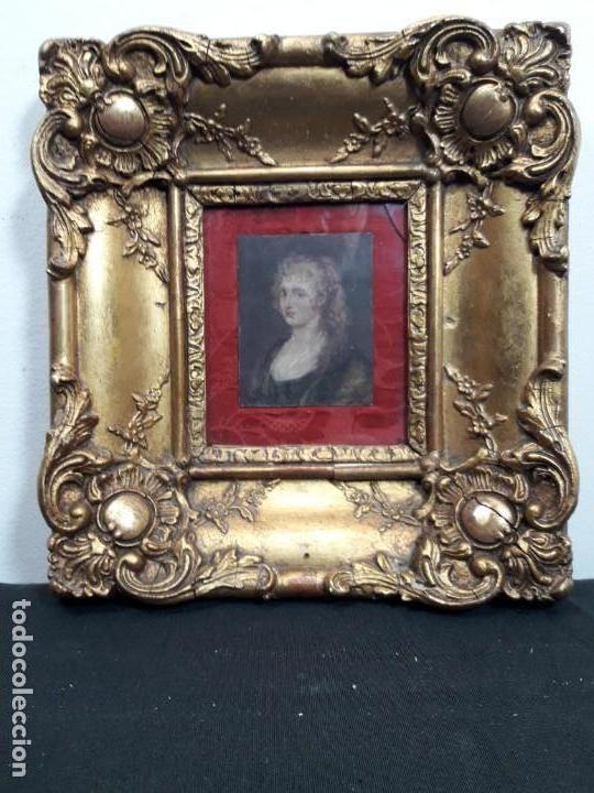 MINIATURA COBRE (Arte - Pintura - Pintura al Óleo Antigua siglo XVIII)