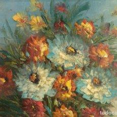 Arte: ÓLEO SOBRE LIENZO BODEGÓN FLORES SIGLO XX. Lote 164916158