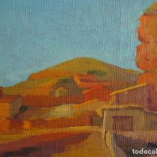 Arte - PAISAJE AL ÓLEO DE JARABA. PINTOR ARAGONÉS:MANUEL NAVARRO LÓPEZ. - 164941506