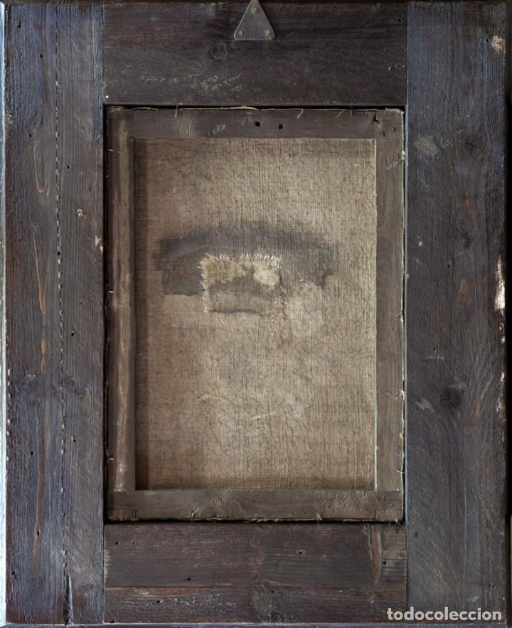 Arte: ÓLEO S/LIENZO -VIRGEN DEL ROSARIO CON STO DOMINGO-. CÍRCULOJUAN DE VALDÉS LEAL S. XVII. 75X61 CMS - Foto 11 - 164969642