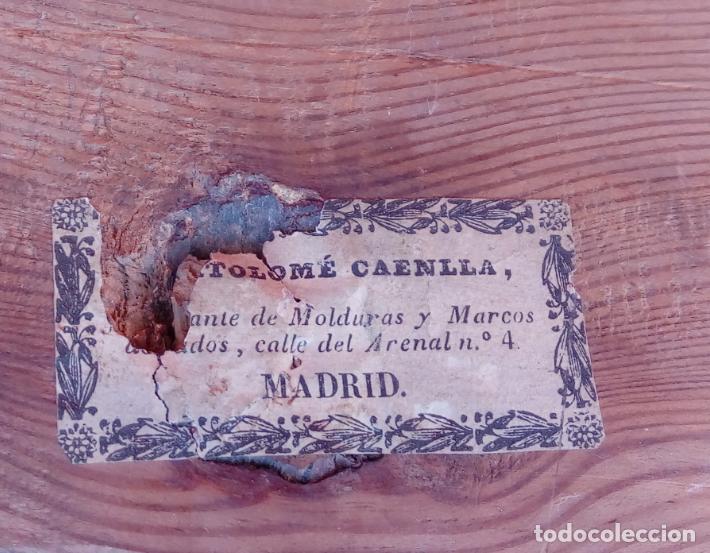 Arte: ÓLEO S/LIENZO -SAN ANTONIO-. ESCUELA DE MURILLO BARROCA SEVILLANA S. XVIII. DIM.- 81X60 CMS. - Foto 13 - 164971454