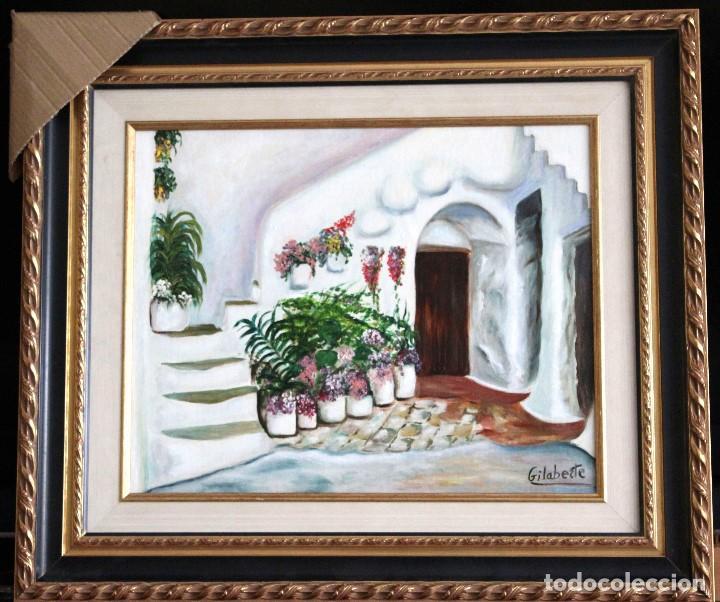 PATIO OBRA DE GILABERTE INCLUYO MARCO (Arte - Pintura - Pintura al Óleo Contemporánea )