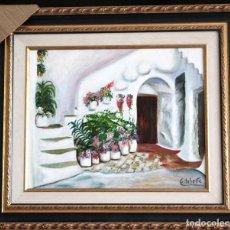 Arte: PATIO OBRA DE GILABERTE INCLUYO MARCO . Lote 164977474