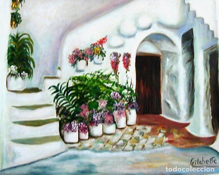 Arte: Patio obra de Gilaberte Incluyo marco - Foto 2 - 164977474