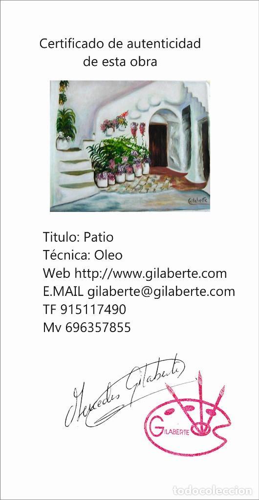 Arte: Patio obra de Gilaberte Incluyo marco - Foto 3 - 164977474