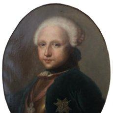 Arte: SEGUIDOR DE ANTON RAPHAEL MENGS, RETRATO SIGLO XVIII 18 DE FERNANDO I. Lote 164987030