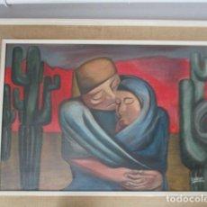 Arte: OLEO SOBRE LIENZO DE MADRE Y HIJA. / FIRMADO.. Lote 165061270