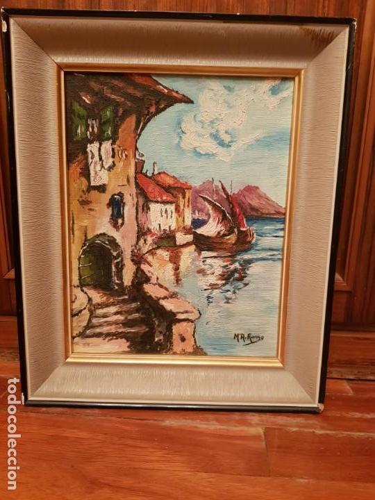 Arte: Lote de cuatro cuadros paisajes al óleo - Foto 2 - 165092138
