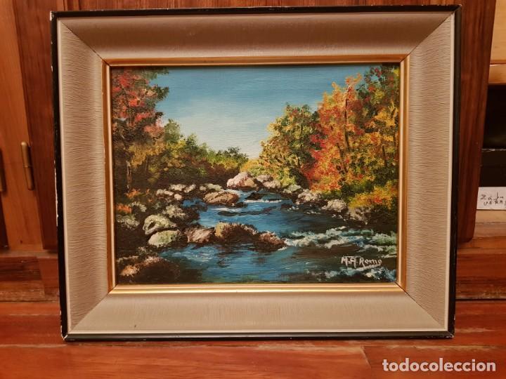 Arte: Lote de cuatro cuadros paisajes al óleo - Foto 4 - 165092138