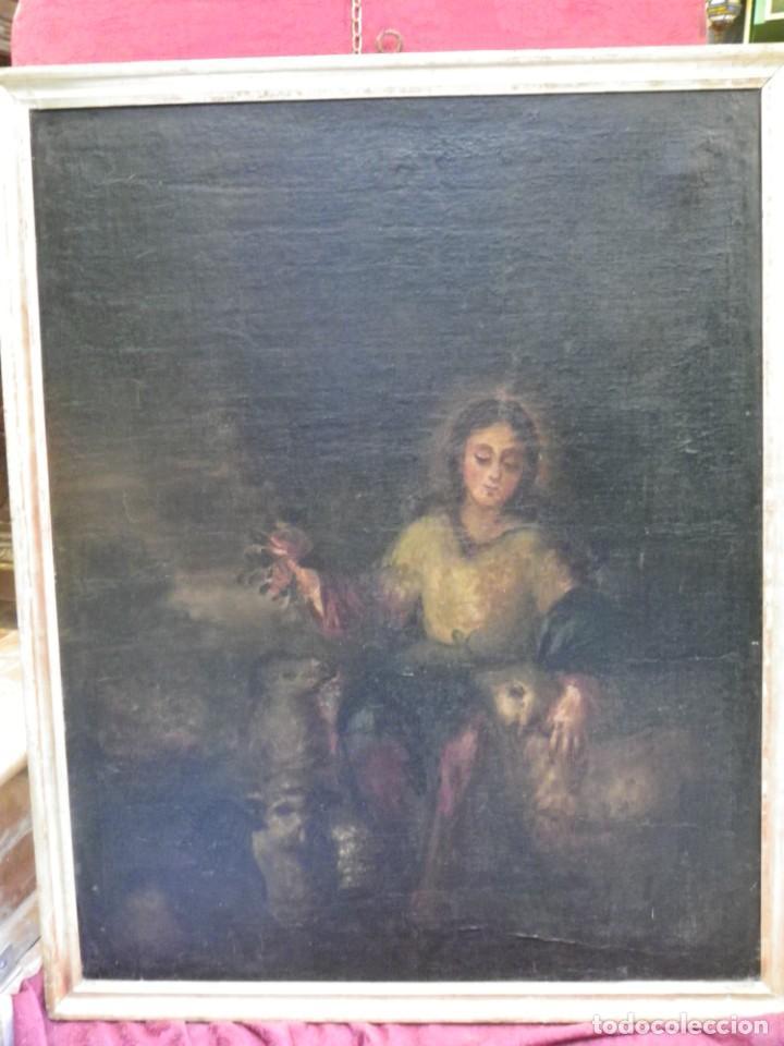 PASTORA OLEO/LIENZO SIGLO XVIII (Arte - Pintura - Pintura al Óleo Antigua siglo XVIII)