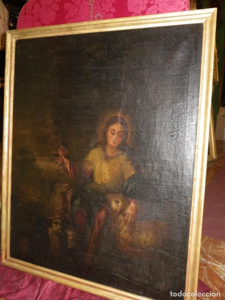 Arte: Pastora oleo/lienzo siglo XVIII - Foto 2 - 165098082