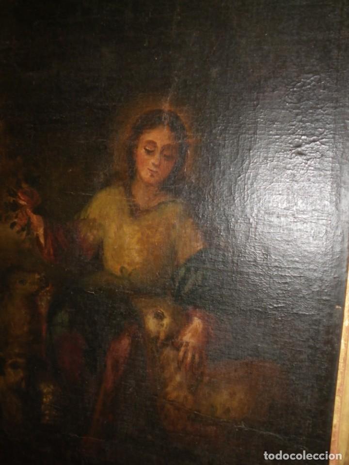 Arte: Pastora oleo/lienzo siglo XVIII - Foto 4 - 165098082