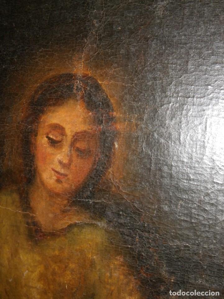 Arte: Pastora oleo/lienzo siglo XVIII - Foto 5 - 165098082