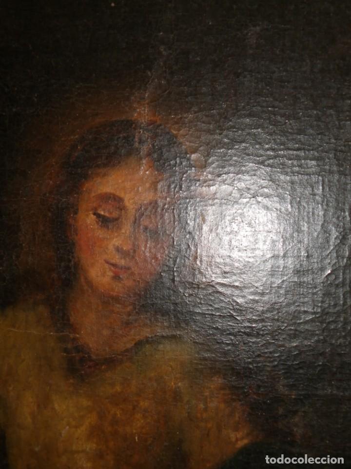 Arte: Pastora oleo/lienzo siglo XVIII - Foto 6 - 165098082