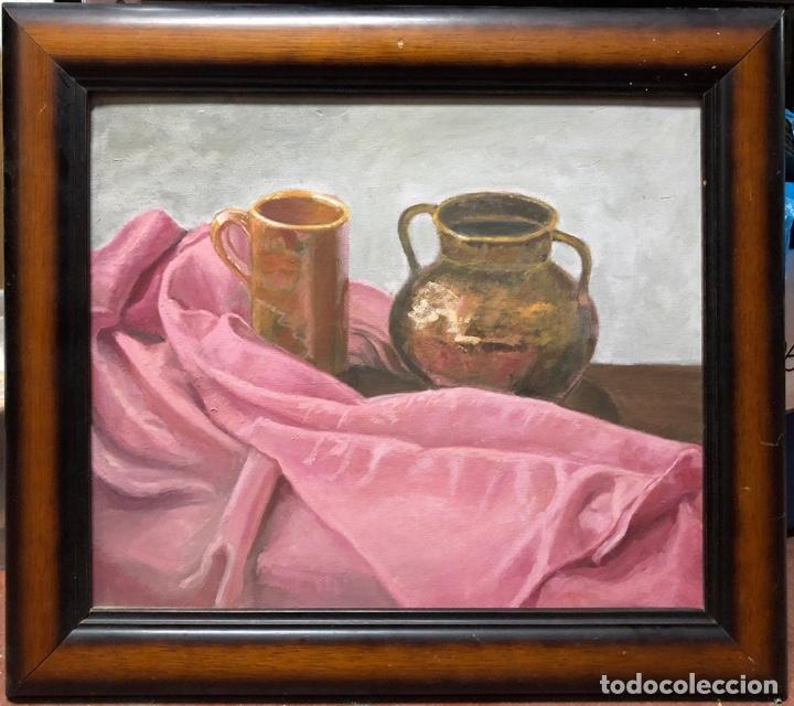 CUADRO AL OLEO DE BODEGON. MEDIDAS APROXIMADAS 64.5 X 47.5 CM. (Arte - Pintura - Pintura al Óleo Moderna sin fecha definida)