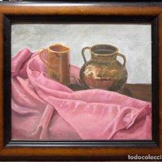 Arte: CUADRO AL OLEO DE BODEGON. MEDIDAS APROXIMADAS 64.5 X 47.5 CM. . Lote 165155882