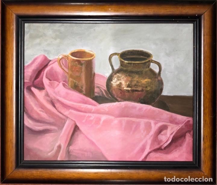 Arte: CUADRO AL OLEO DE BODEGON. MEDIDAS APROXIMADAS 64.5 X 47.5 CM. - Foto 4 - 165155882