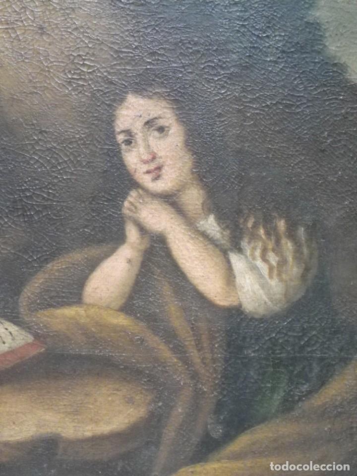 Arte: Magdalena penitente. óleo S-XVIII-XIX - Foto 10 - 165188474