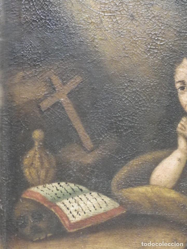 Arte: Magdalena penitente. óleo S-XVIII-XIX - Foto 11 - 165188474