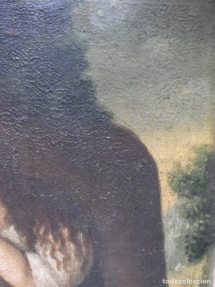 Arte: Magdalena penitente. óleo S-XVIII-XIX - Foto 12 - 165188474