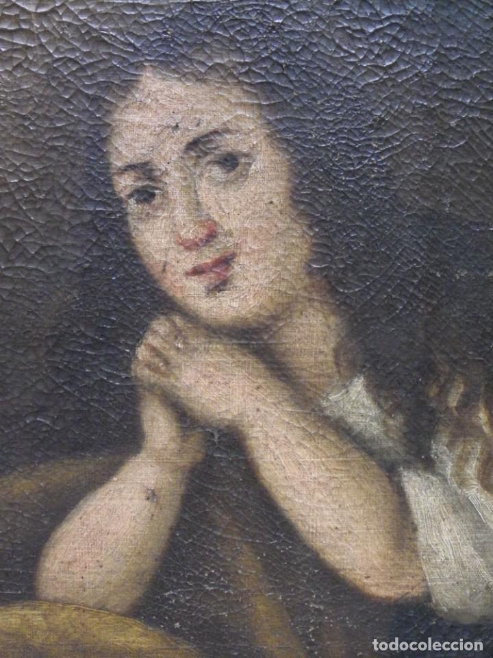 Arte: Magdalena penitente. óleo S-XVIII-XIX - Foto 13 - 165188474