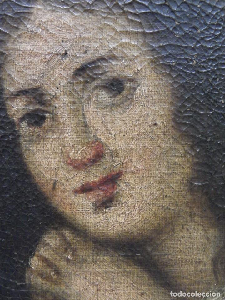 Arte: Magdalena penitente. óleo S-XVIII-XIX - Foto 17 - 165188474