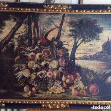 Arte: SIGLO XVIII ,BODEGÓN DE ESCUELA EUROPEA FINALES SIGLO XVIII ÓLEO SOBRE LIENZO REPRESENTANDO BODEGÓ. Lote 165199706